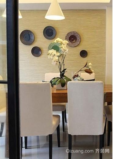 清幽蓝韵的混搭风格三室一厅新房装修效果图