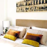 暖色调床头背景墙