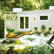 清新型别墅庭院图片