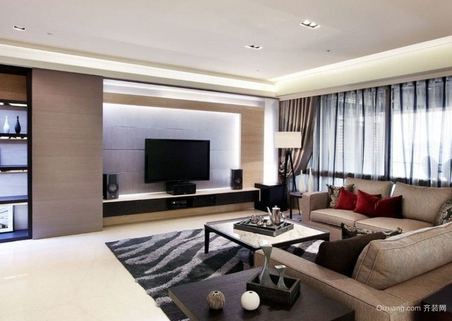 150平米极具质感3室2厅2卫的房屋装修效果图