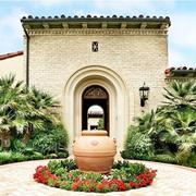 别墅庭院花坛图片