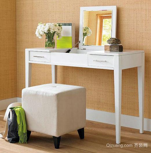 清爽的现代简约风格卧室梳妆台装修效果图鉴赏