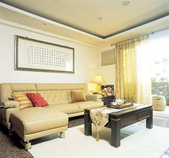 120平米温文儒雅新中式三居室家庭装修效果图