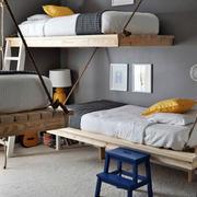 儿童房双人床效果图