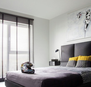 120平米时尚简约黑白色混合搭配的小别墅装修效果图