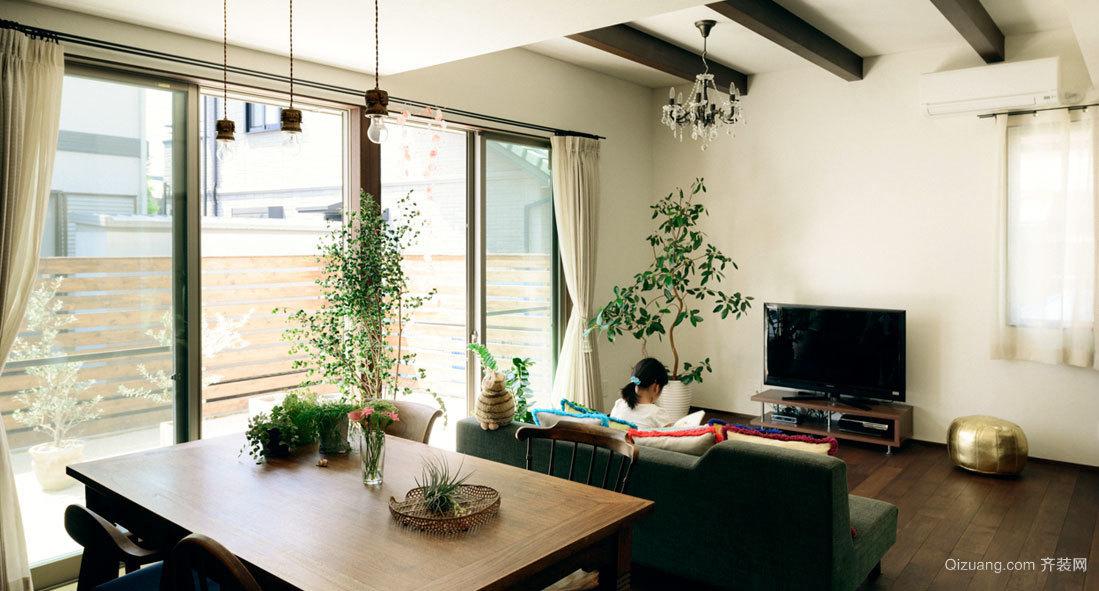 打造氧气家居:100㎡森系公寓式住宅装修效果图