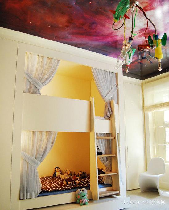 30平米清新简约各式各样的上下铺儿童房设计