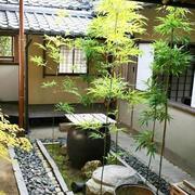 别墅庭院石头图片