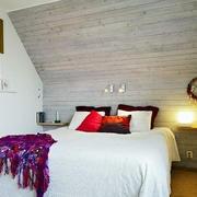 自然风格床头背景墙