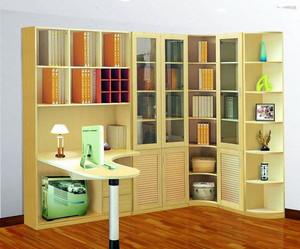 2015简朴实木材料书柜装修效果图
