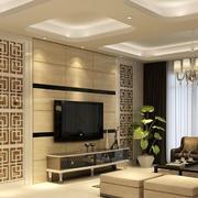 淡雅型电视背景墙