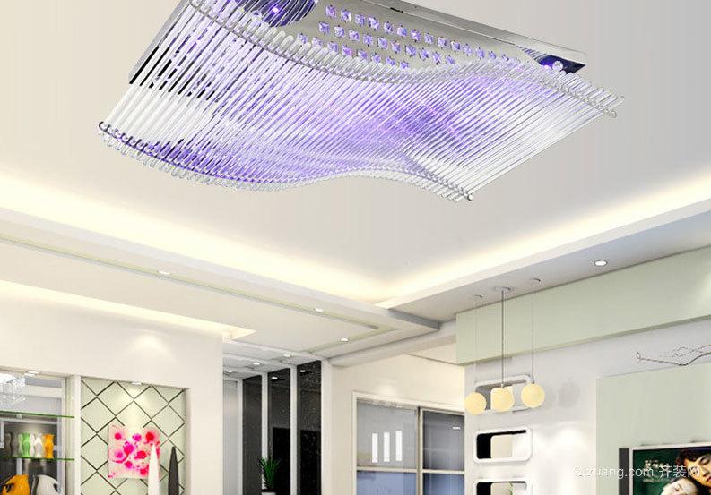 效果非凡的时尚客厅led吸顶灯装修效果图大全
