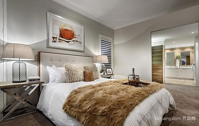 你没看过的时尚别致卧室交叉床头柜脚装修效果图