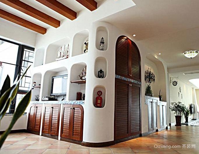 100平米三居室美式地中海房屋装修效果图