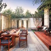 传统风格别墅庭院图片