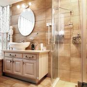 淡色调浴室柜效果图