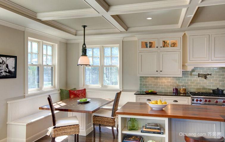 混搭风格的开放式厨房橱柜装修效果图大全
