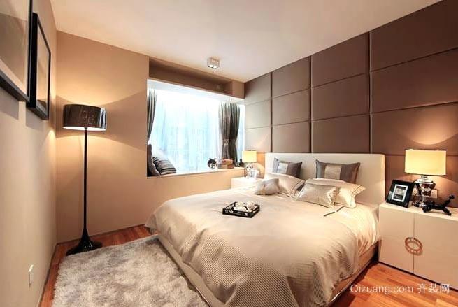 优雅柔和含蓄裸色系全民女神大户型卧室装修效果图