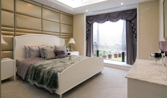 主卧床头柜效果图_68平米两室一厅装修主卧床头柜装修效果图