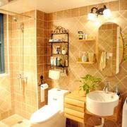 暖色调卫生间图片