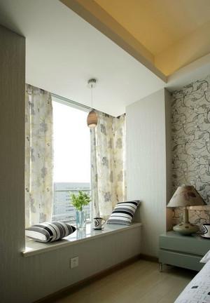 田园风格飘窗窗帘设计