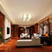 时尚风格中式客厅装修