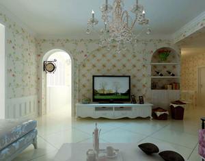 朴素清新的三居室客厅吊顶装修效果图