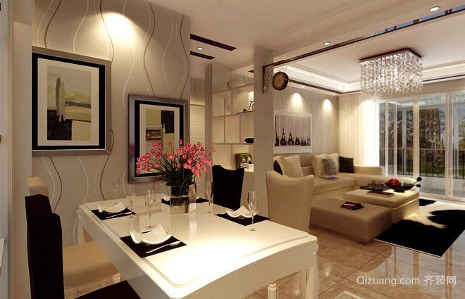 130平米时尚且实用现代简约公寓装修效果图
