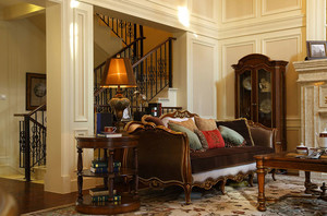 法式古典风格的别墅设计装修效果图欣赏
