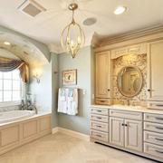 大户型浴室柜效果图