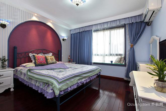 16万打造的130平米美式地中海风格三居室房屋装修效果图