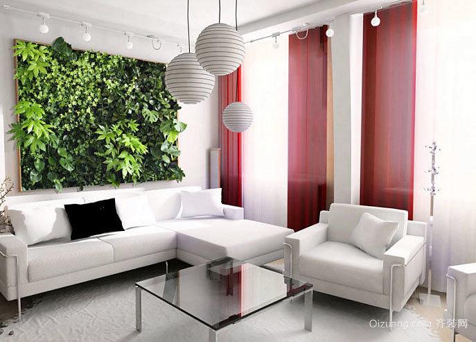 春意怏然的家居墙面装饰装修效果图
