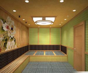 80平米高品位的都市电气石汗蒸房设计效果图大全