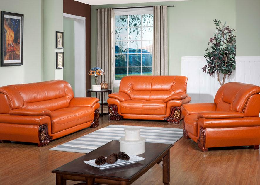 精致的100平米欧式时尚客厅真皮沙发装修效果图大全
