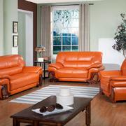 红色调沙发装修图片