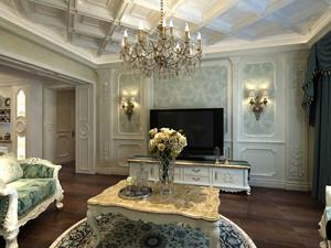 140平米文化气息十足的法式宫廷小别墅装修效果图