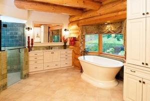 别墅典雅卫生间欧式浴室柜装修效果图