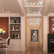 中式风格走廊吊顶装修