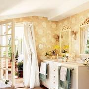 温馨型浴室柜效果图