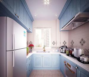 清爽的地中海风格厨房橱柜装修效果图大全