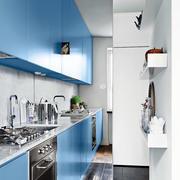 蓝色调厨房装修图片