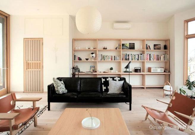 2015日式休闲简约风格客厅装修设计效果图