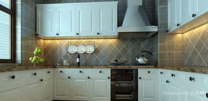 2015现代中式风格厨房橱柜装修效果图大全