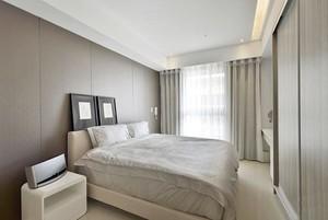 温婉大气两居室主卧白色床头柜装修效果图