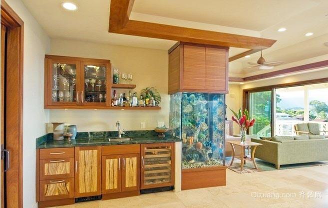 家装鱼缸造景装修设计效果图