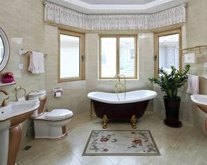 大气豪华的别墅卫生间设计装修效果图