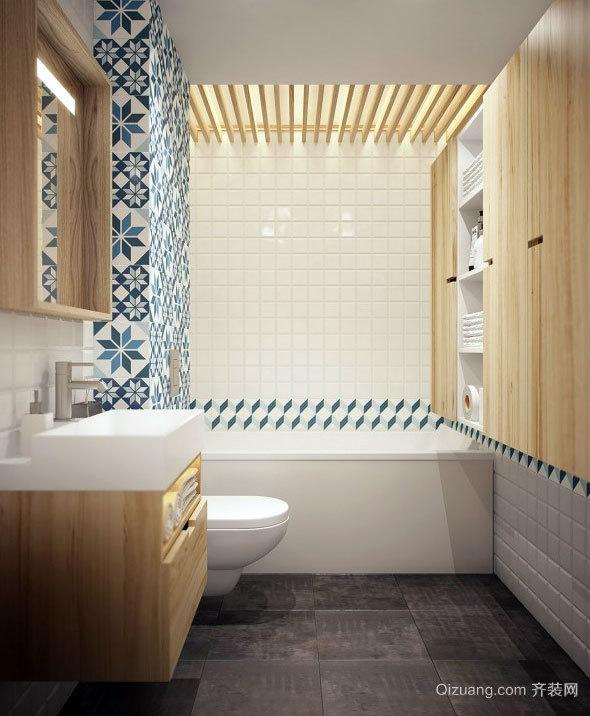 小户型单身公寓卫生间设计装修效果图
