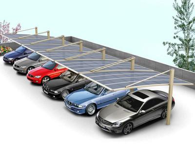 2015构造精巧的都市汽车膜结构车棚设计效果图