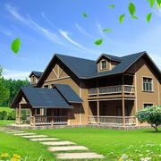 斜顶木质别墅装修
