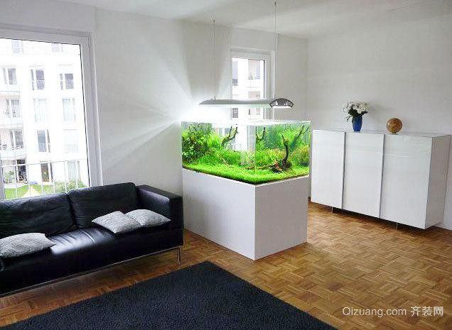 亮丽风景线 家装鱼缸造景装修设计效果图